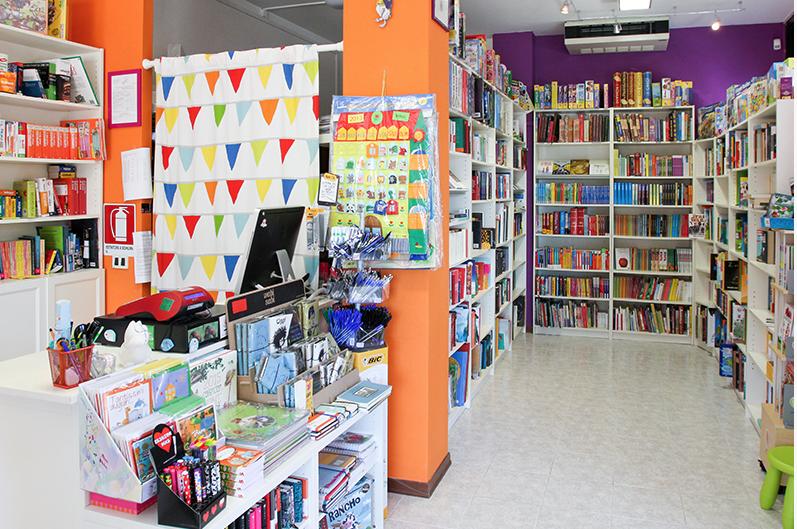 interni di Baobab, libreria per bambini e ragazzi