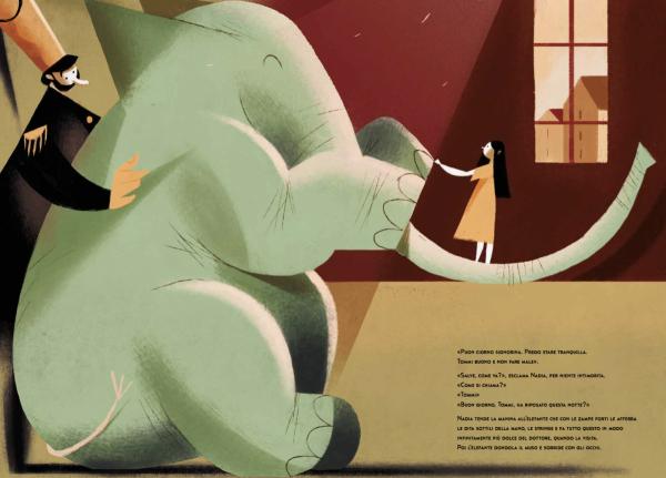 L'elefante incontra la bambina
