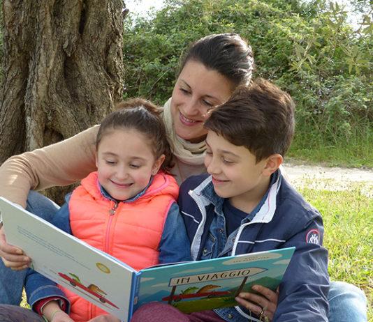 Paola Bisconti con i figli