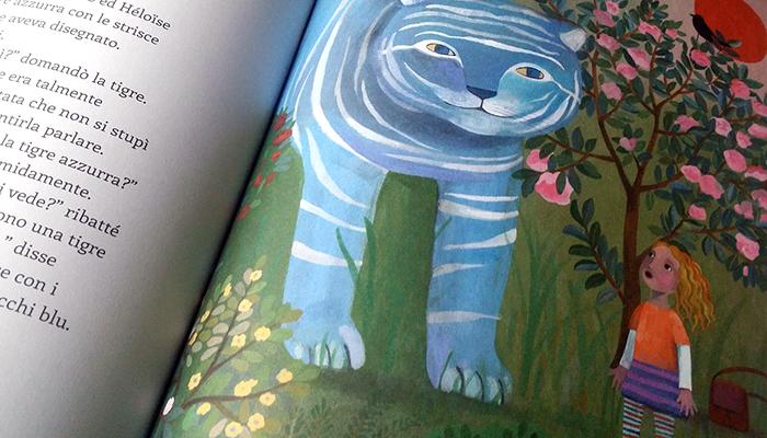 l'incontro tra Heloise e la tigre azzurra