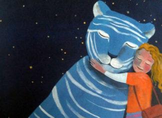 Heloise abbraccia la tigre azzurra