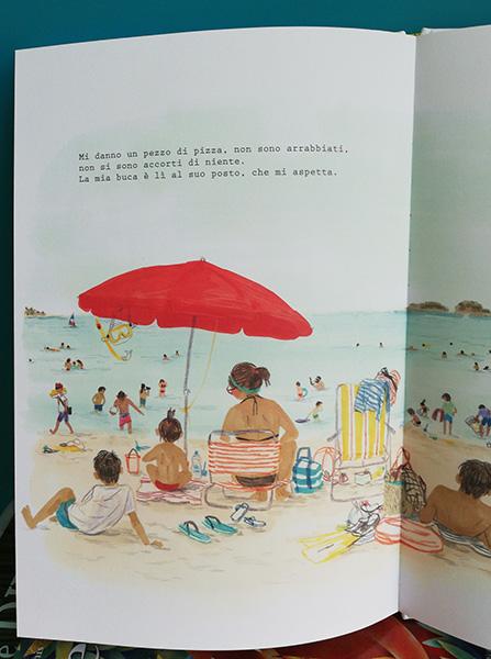 pagine interne del libro In spiaggia