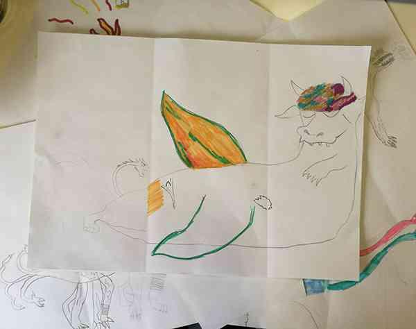 mostri disegnati dai bambini