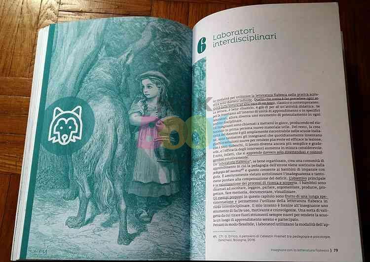 """Interno del libro """"Insegnare con la letteratura fiabesca"""""""