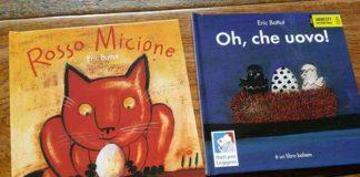 copertine di Rosso Micione e di Oh, che uovo di Eric Battut