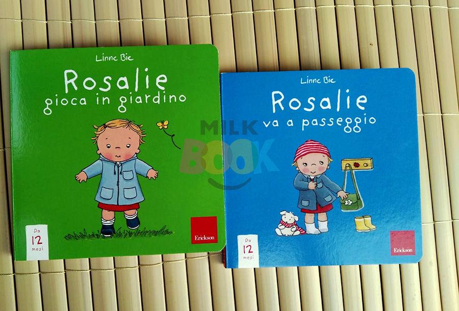 Rosalie gioca in giardino e Rosalie va a passeggio