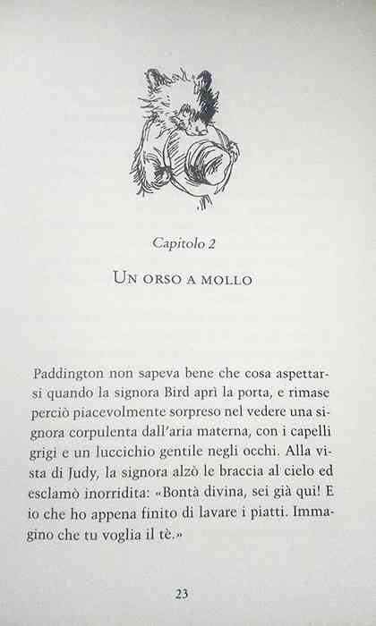 pagine interne del libro L'orso Paddington
