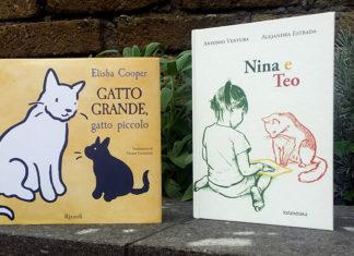 libri Gatto grande, gatto piccolo e Nina e Teo