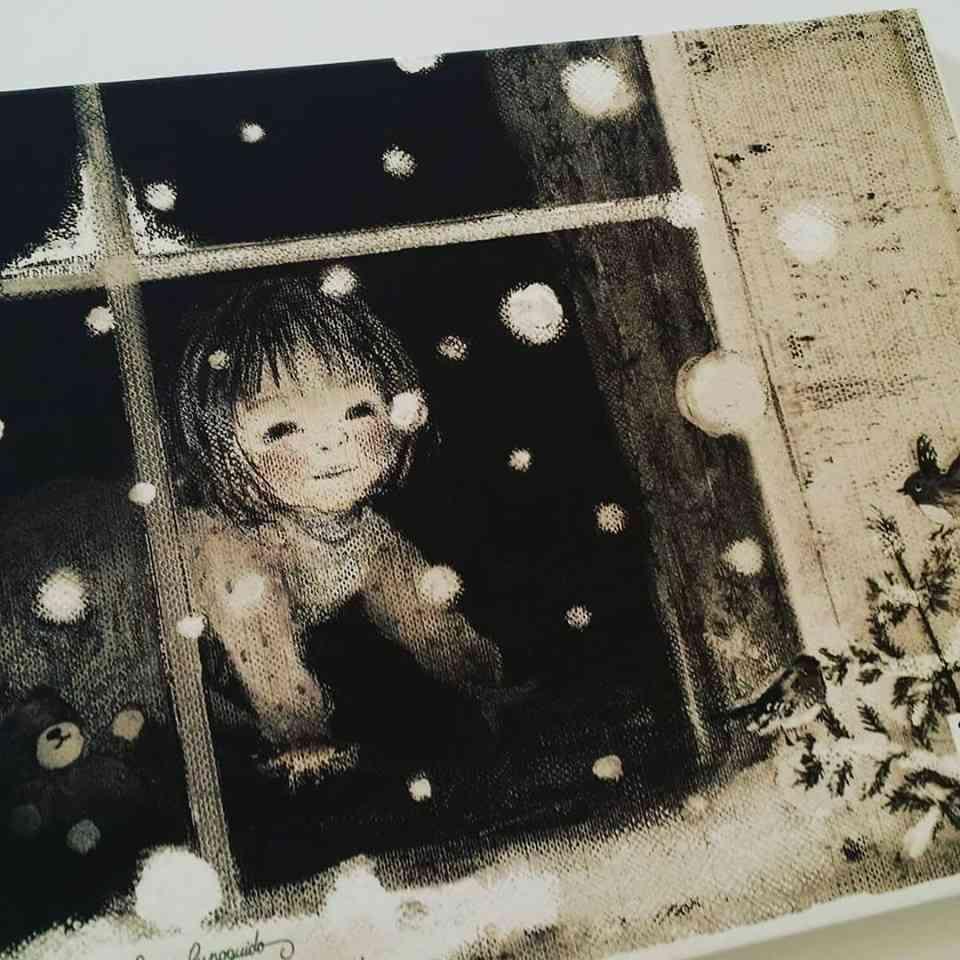 La prima neve-dalla finestra