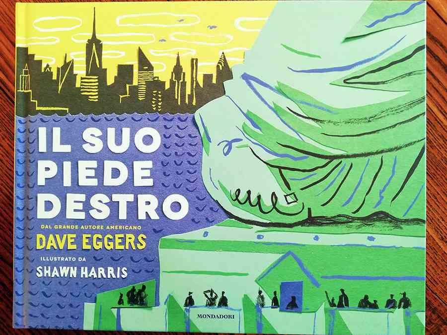 copertina del libro Il suo piede destro, di David Eggers