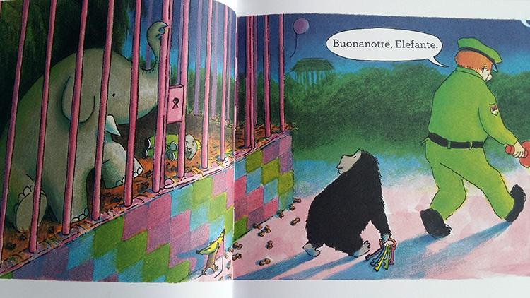 pagine interne di Buonanotte Gorilla
