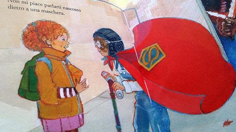 illustrazione del libro La bambina mascherata