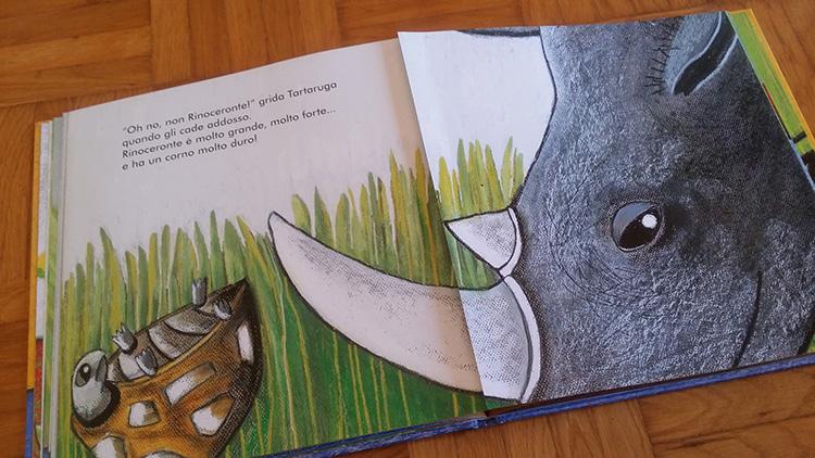 la tartaruga e il rinoceronte
