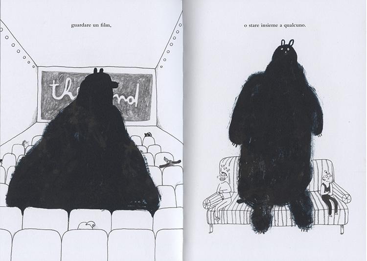 Un orso sullo stomaco