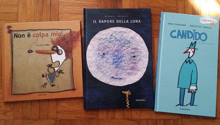 tre libri di Kalandraka
