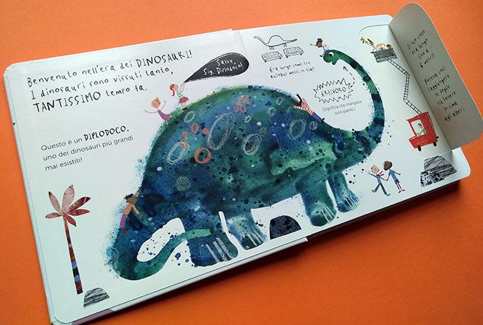 pagine di esempio di Buongiorno signor dinosauro