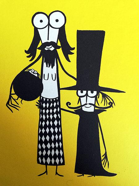 il nano e la donna barbuta