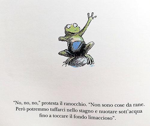 particolare della rana