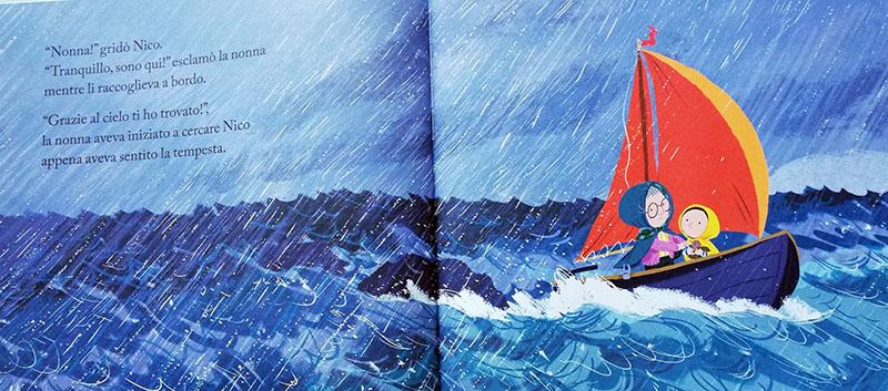 la tempesta sorprende Nico