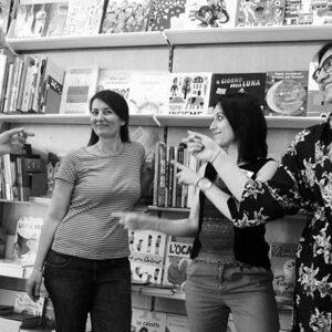 Alessandra Starace e lo staff della libreria dei ragazzi Milano