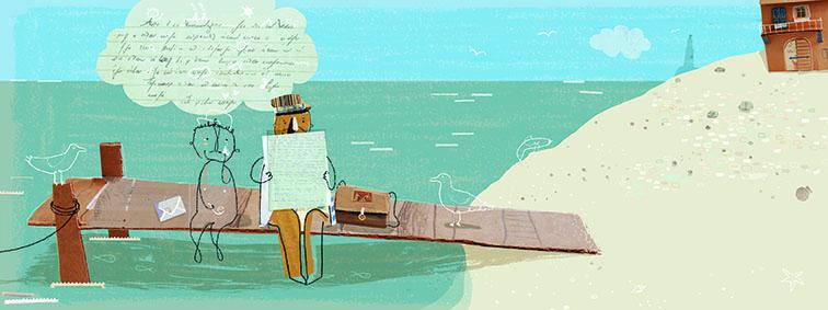 Il postino legge la sua lettera