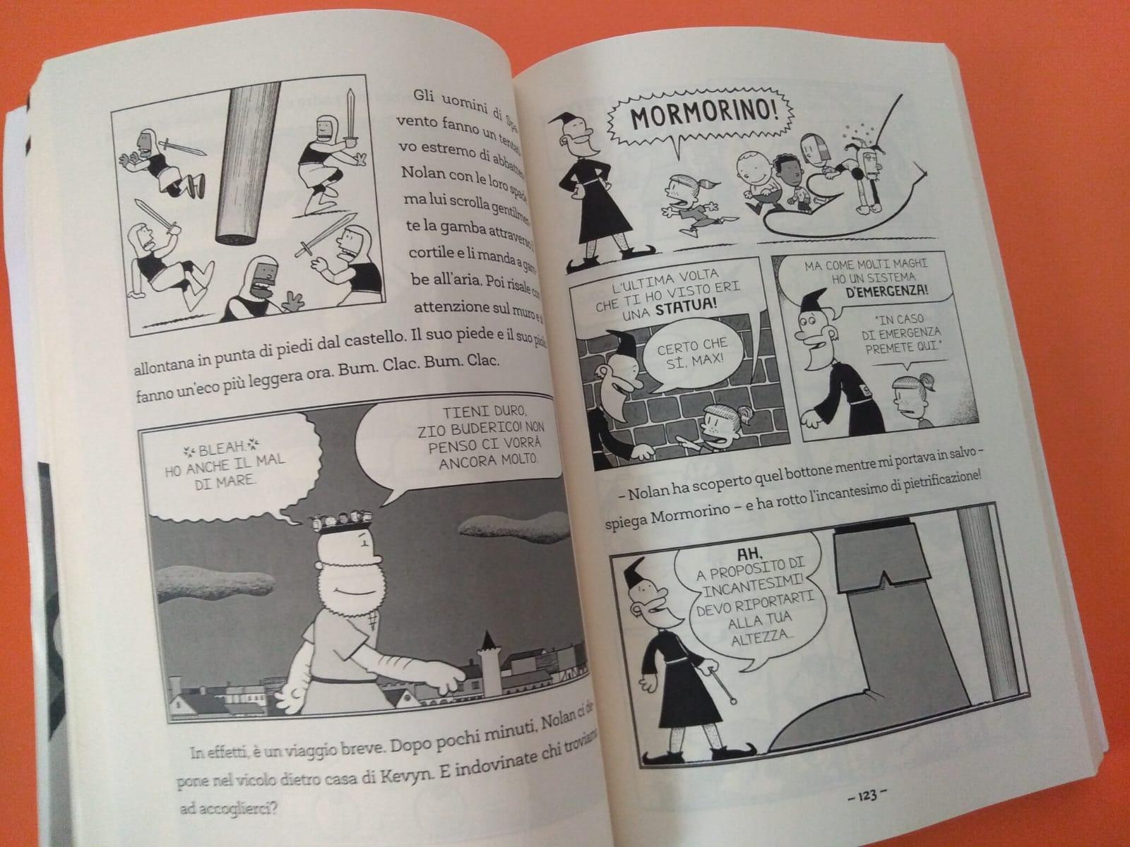 pagine del libro Max cavaliere a metà