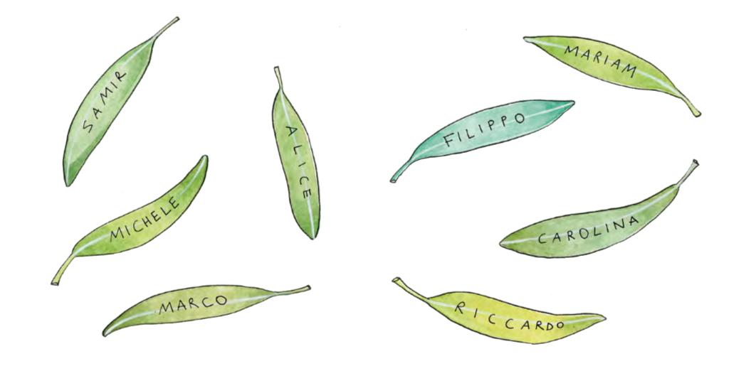 le foglie con i nomi delle vittime di bullismo