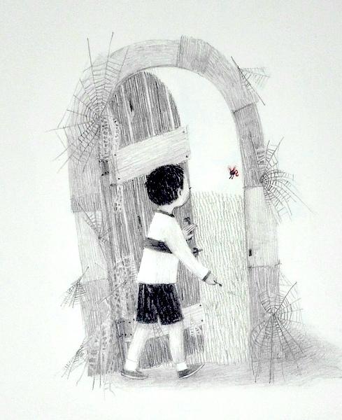 il bambino apre la porta