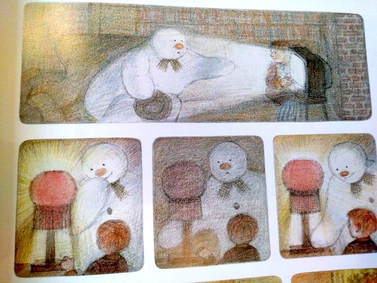 Il pupazzo di neve entra in casa