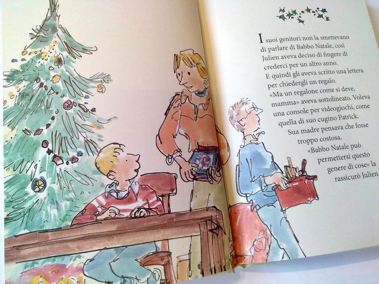 Julien scrive la lettera a Babbo Natale