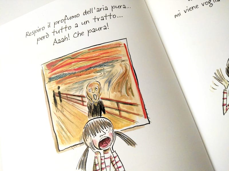 bambina urlo di Munch