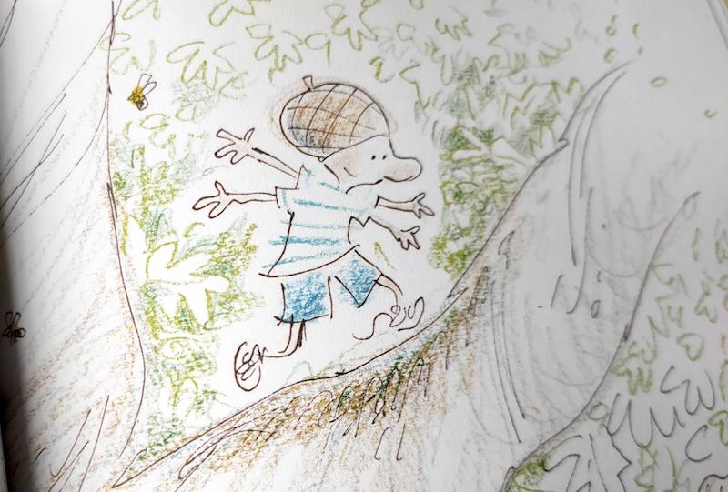 Il bambino sul ramo della quercia