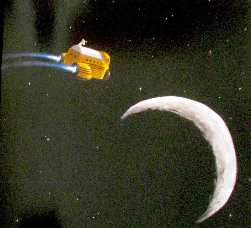 la navicella si avvicina alla luna