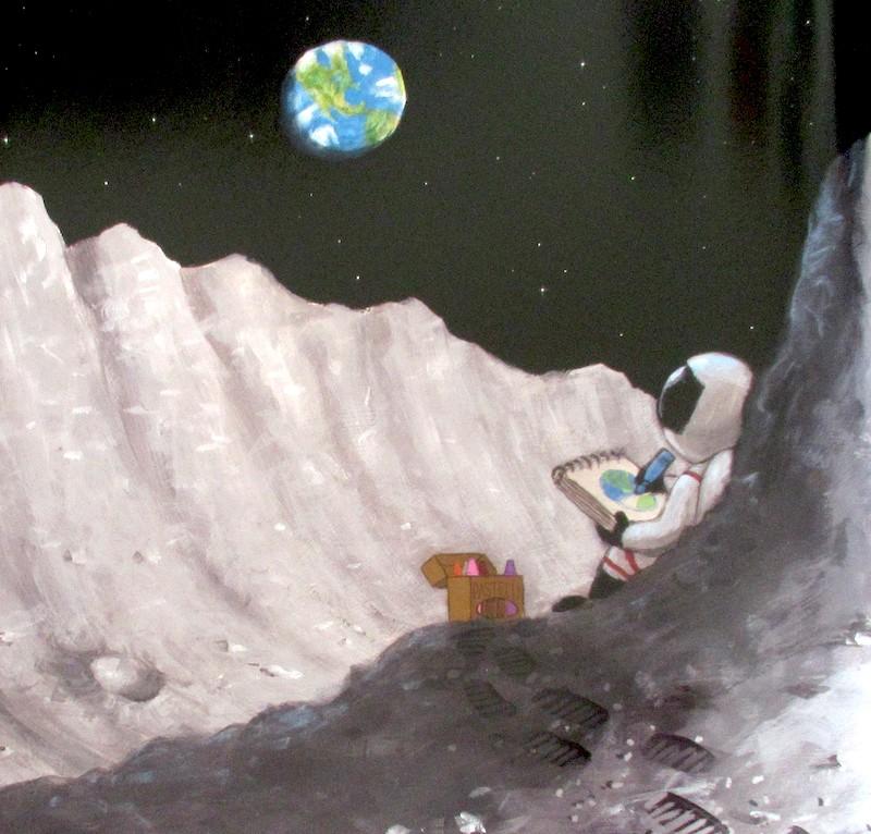 il bambino disegna la terra