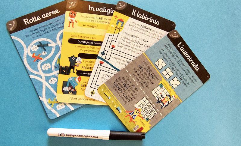 carte piene di giochi da fare in vacanza