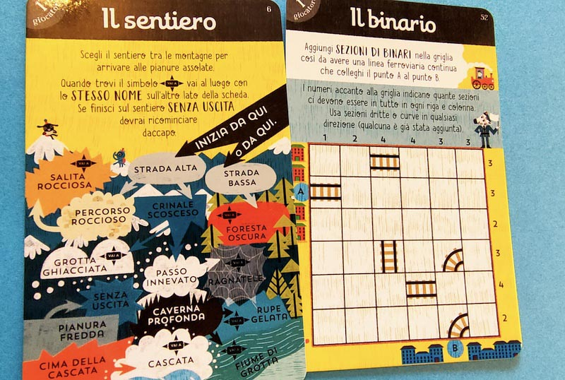 carte di giochi esempi