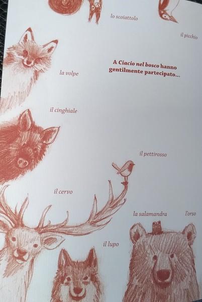 gli animali nel libro di Ciacio