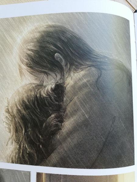 l'abbraccio tra i due