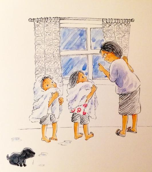 la nonna ascolta i loro racconti