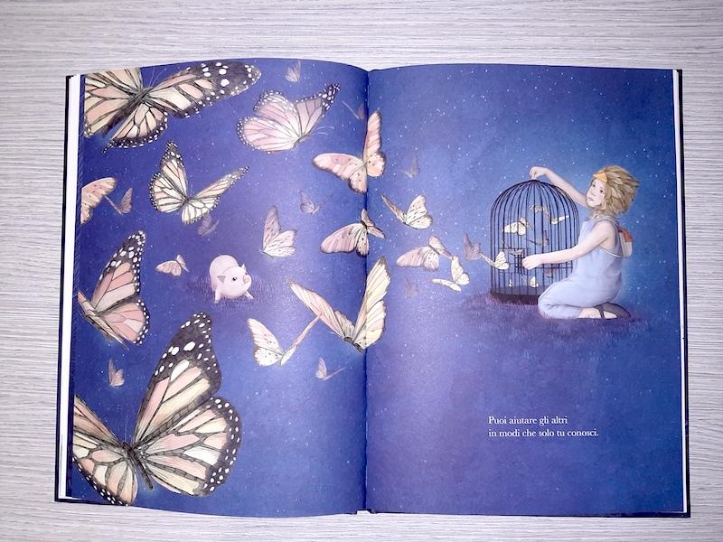 un'esplosione di farfalle