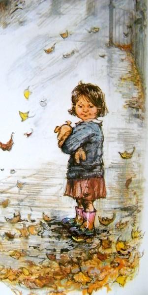 una bambina nella natura