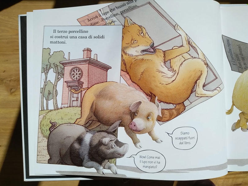i porcellini escono dal libro
