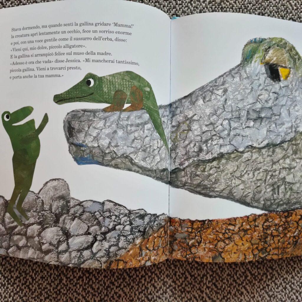 la gallina alligatore incontra la mamma