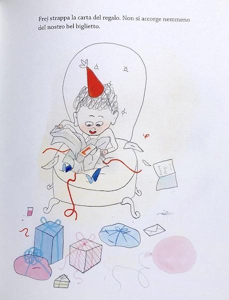 Frej scarta il regalo