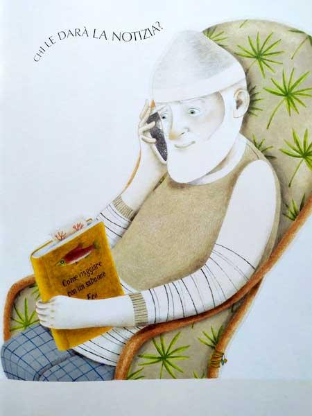 Il nonno legge il libro di Umberto Eco
